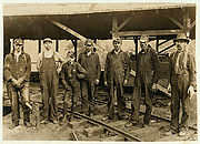Tipple crew at Turkey Knob mine, ca. 1908.